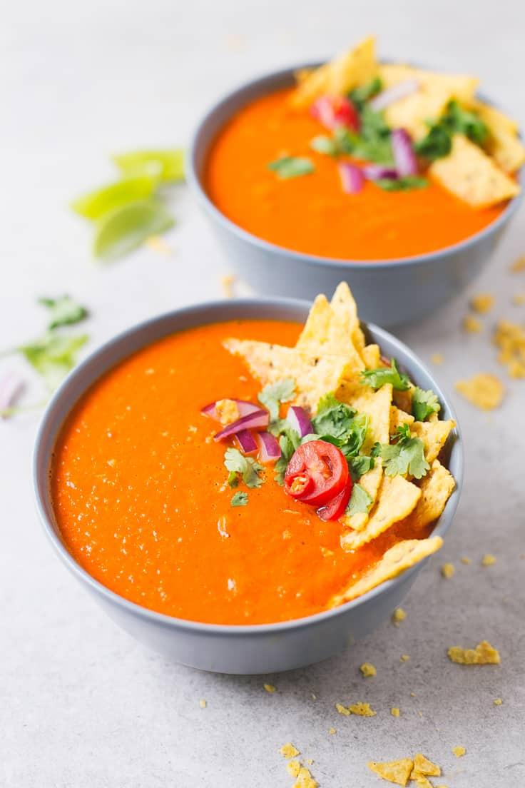 Recceta de sopa de tomate | danzadefogones.com #vegano #vegan