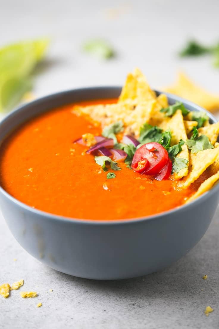 Sopa de tomate picante | danzadefogones.com #vegano #vegan