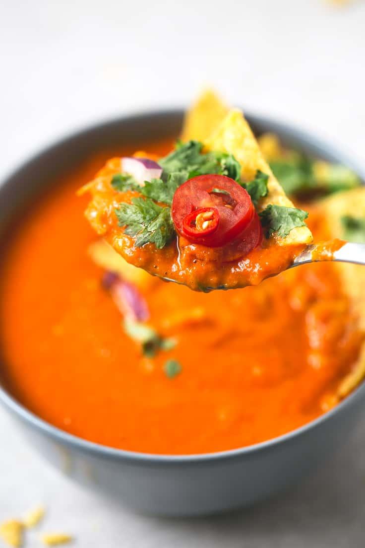 Sopa de tomate | danzadefogones.com #vegano #vegan