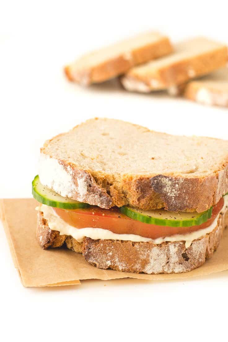 Sandwich de Hummus