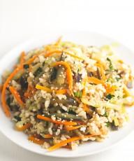 Wok de arroz y verdudas