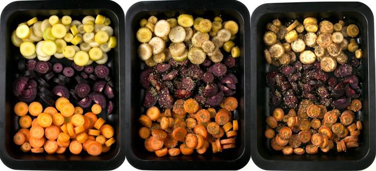 Zanahorias asadas sin aceite - Asar zanahorias sin aceite es muy fácil. Es un plato sano, rico y muy nutritivo, perfecto para comerlo como guarnición de un plato principal.