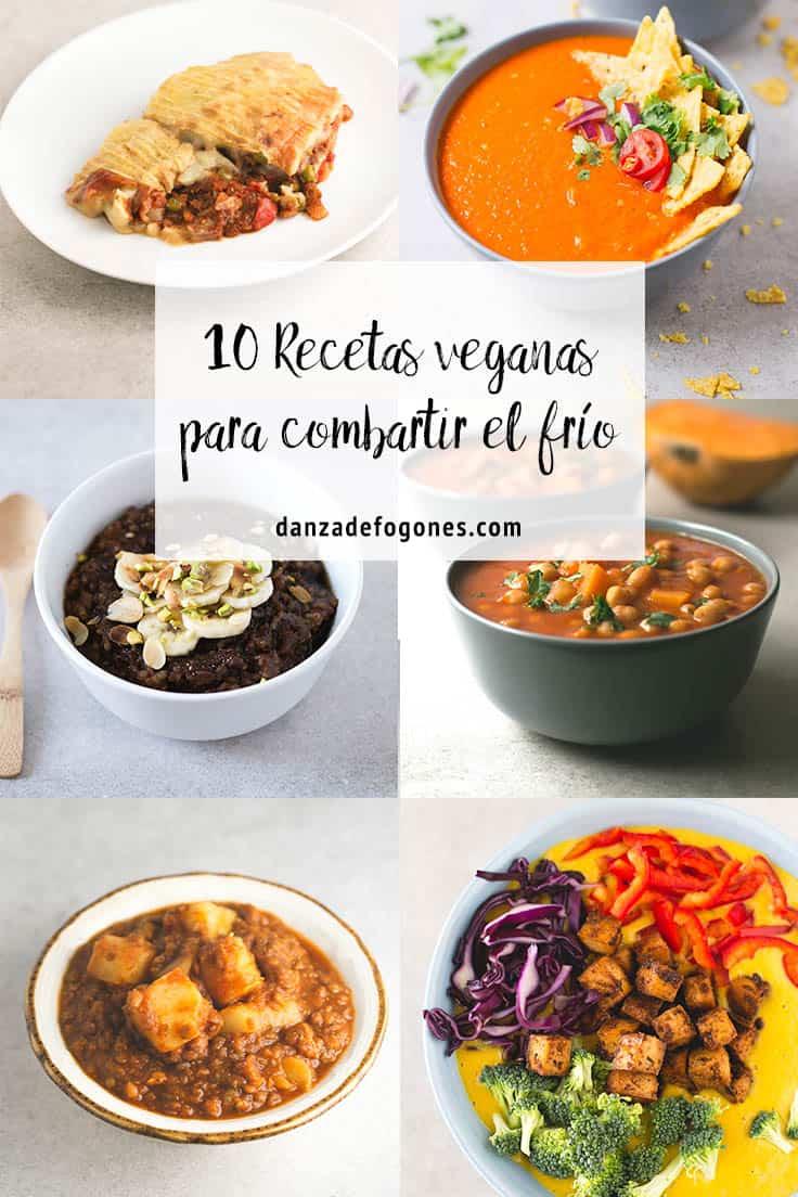 10 recetas veganas para combatir el frío - Estas son 10 de mis recetas veganas preferidas para combatir el frío. Cuando las temperaturas bajas nos apetecen cosas calentitas y reconfortantes.