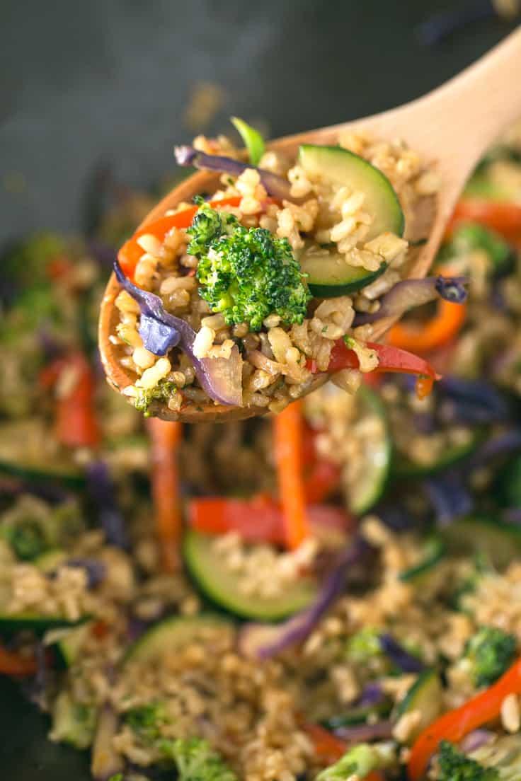 Wok vegano de arroz | danzadefogones.com #vegan #vegano