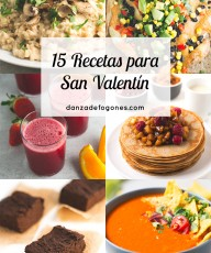 15 recetas para san valentin