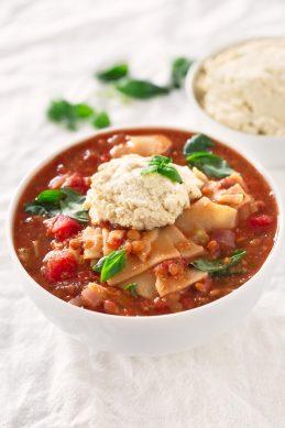 Sopa de Lasaña Vegana