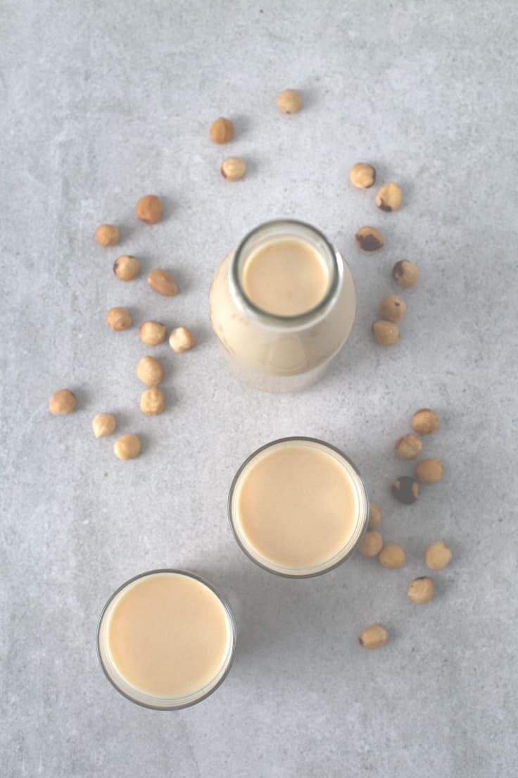 Leche de avellanas - Hacer leches vegetales en un extractor de zumos es mucho más fácil, limpio y rápido. Esta leche de avellanas sólo tienes 3 ingredientes y está deliciosa.