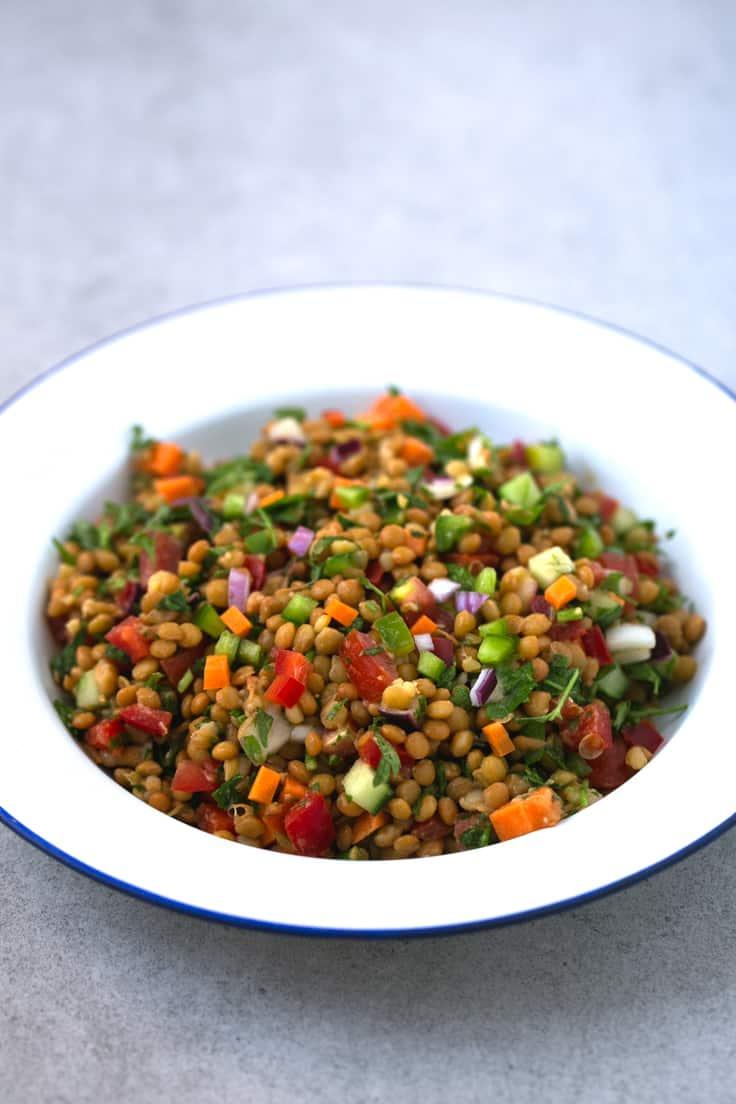 receta ensalada de lentejas para dieta