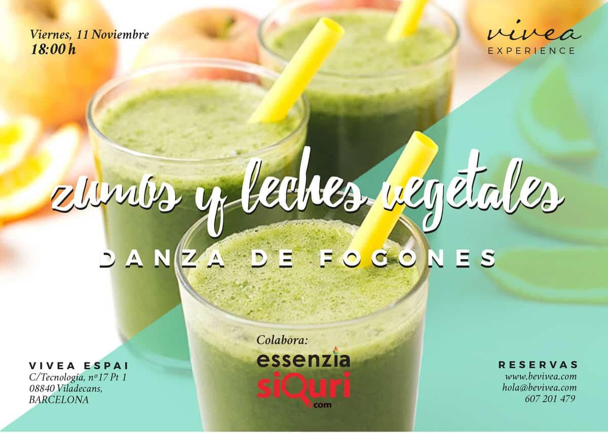 Taller de zumos y leches vegetales. Danza de Fogones. Vivea (Barcelona)