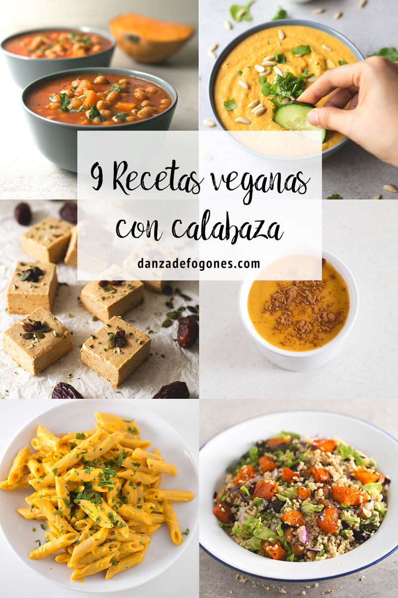 9 Recetas Veganas con Calabaza. - La calabaza está en temporada y hay mil recetas distintas que podemos preparar: saladas, dulces o incluso hasta bebidas.