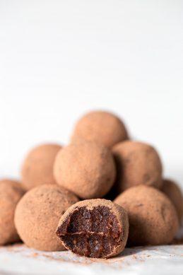 Trufas de Chocolate y Naranja Veganas