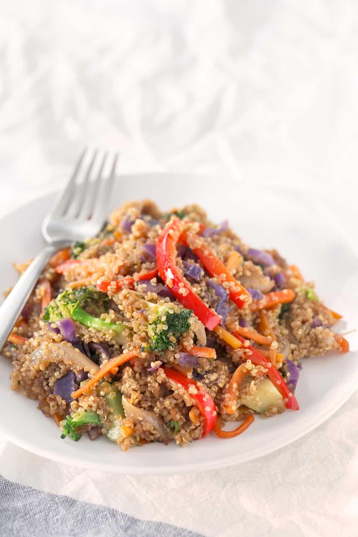 Wok de verduras y quinoa danza de fogones for Cocinar quinoa al vapor