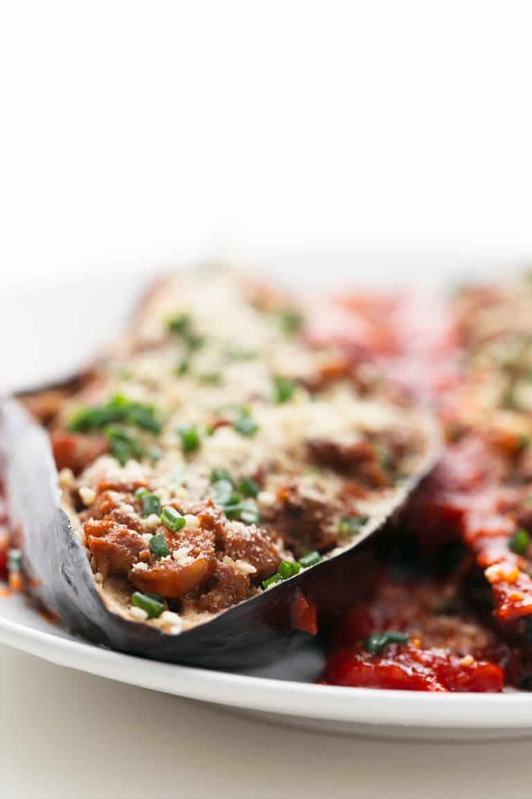 Berenjenas rellenas con salsa bolo esa vegana danza de for Cocina vegana gourmet
