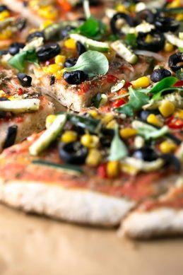 Pizza Sin Gluten Con Verduras