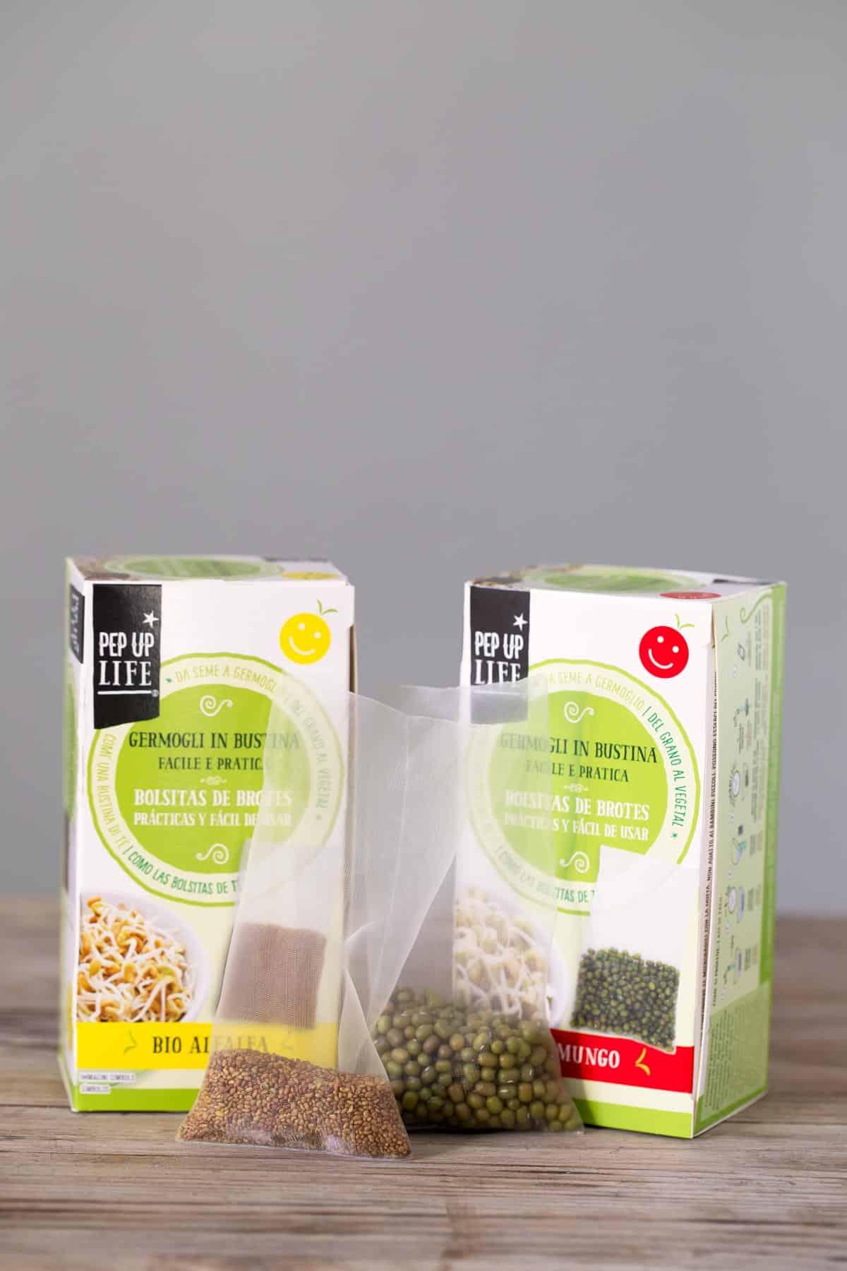 Brotes de mungo y alfalfa