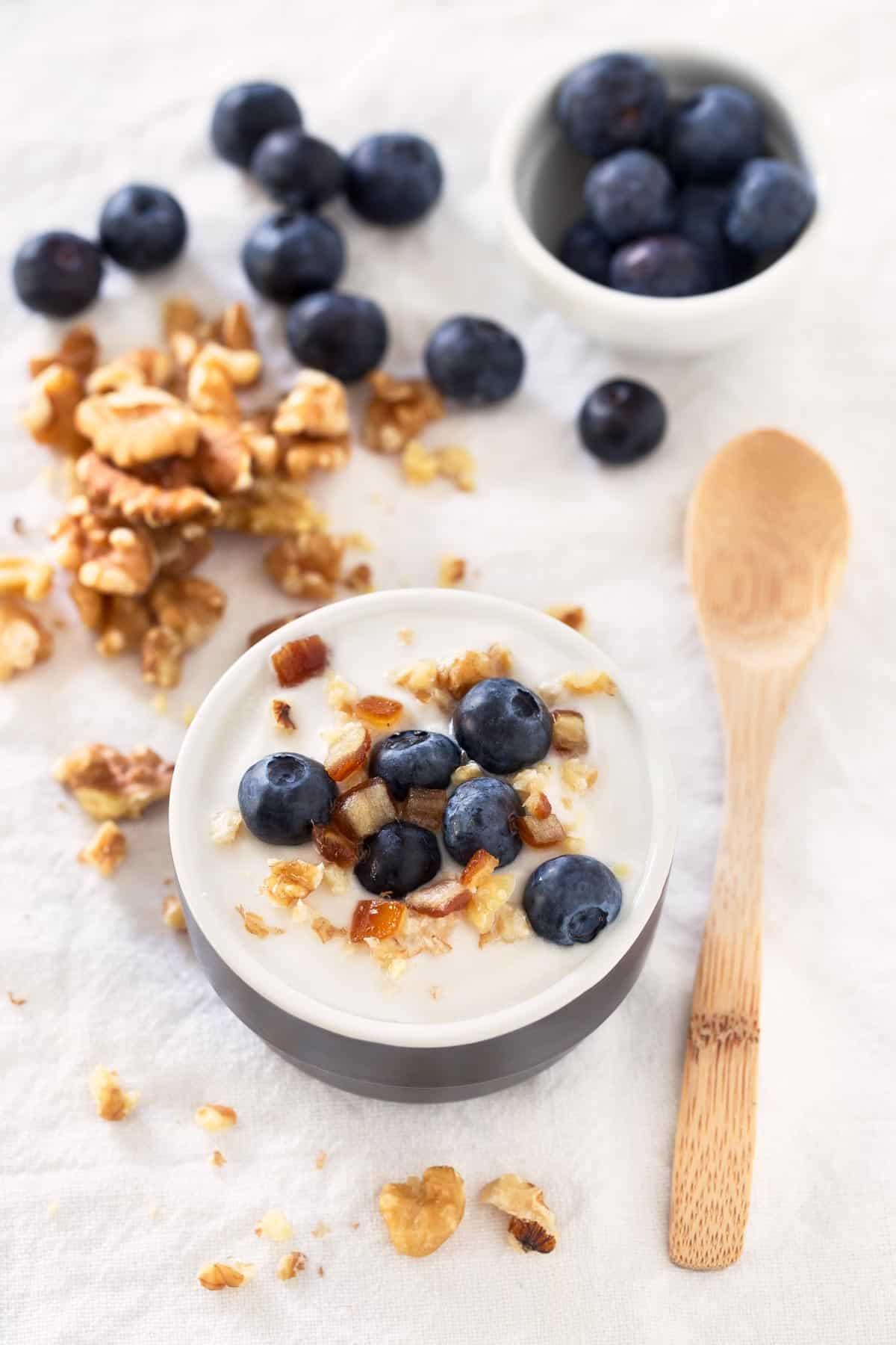 Yogur Vegano de Coco (2 Ingredientes).- Para hacer este yogur de coco vegano sólo se necesitan 2 ingredientes. Es una receta muy simple y rápida. ¡Es mi yogur casero preferido!