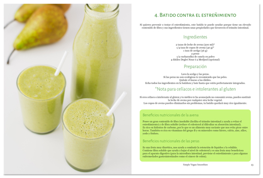 eBook 31 Smoothies, ejemplo de receta