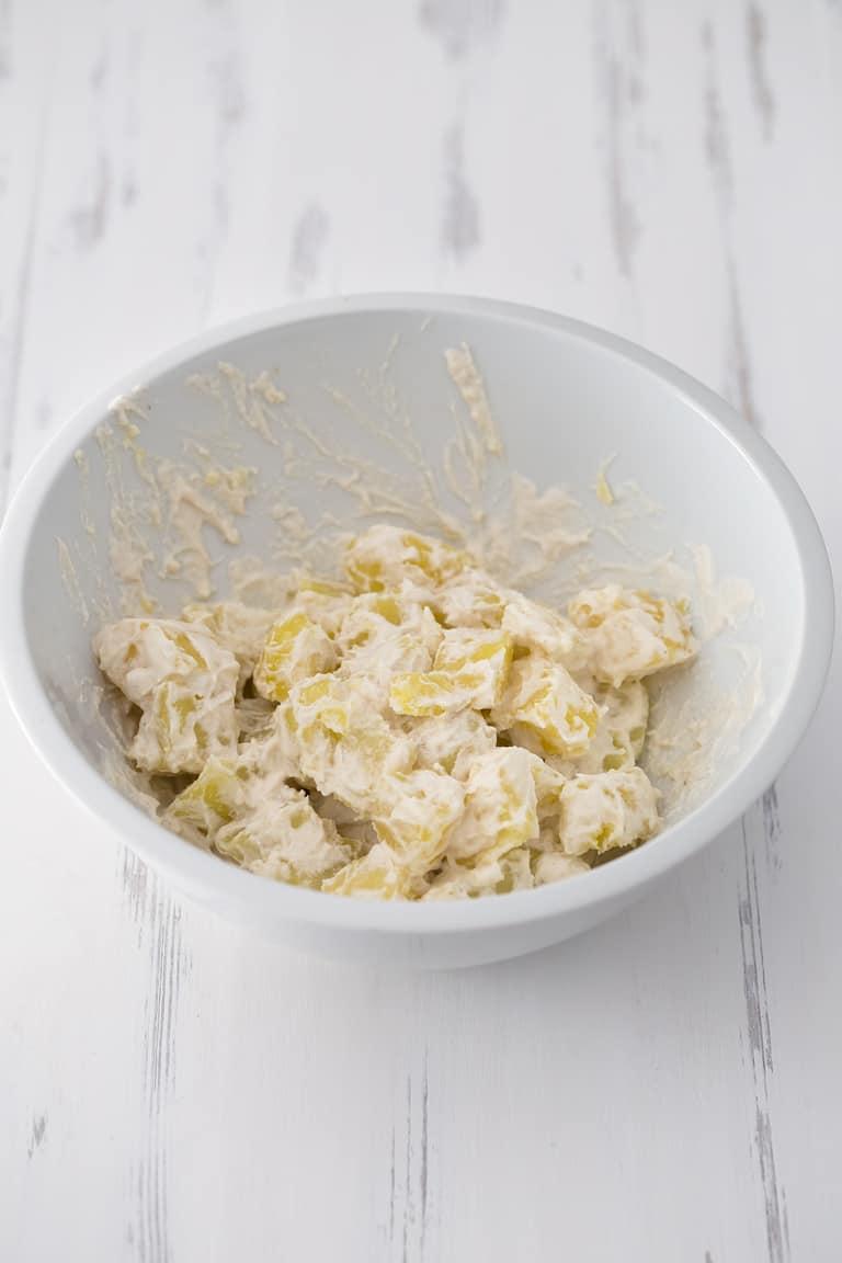 Patatas Alioli Veganas.- Estas patatas alioli veganas son perfectas para el verano. Es una receta refrescante y al no llevar tanta grasa no es tan pesada y es más fácil de digerir.