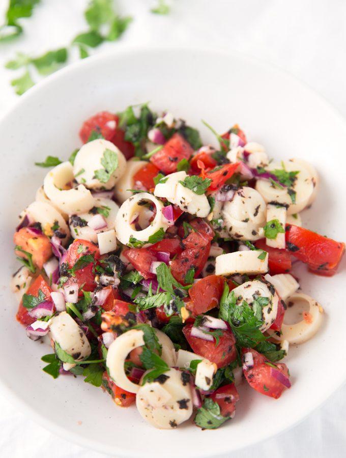 Ceviche Vegano - Este ceviche o cebiche vegano es un plato muy refrescante, típico de algunos países latinoamericanos, aunque la versión original lleva pescado.
