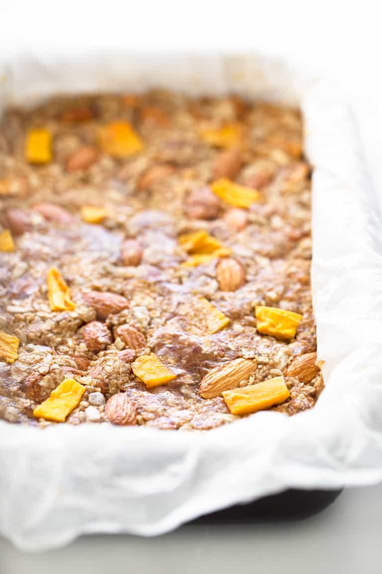 Barritas de Granola. - Estas barritas de granola no necesitan horno y sólo se necesitan 8 ingredientes para prepararlas. Son un snack saludable muy práctico y delicioso.