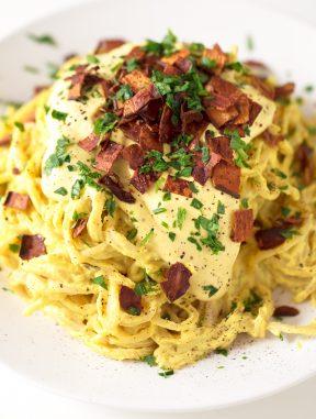 Pasta Carbonara Vegana