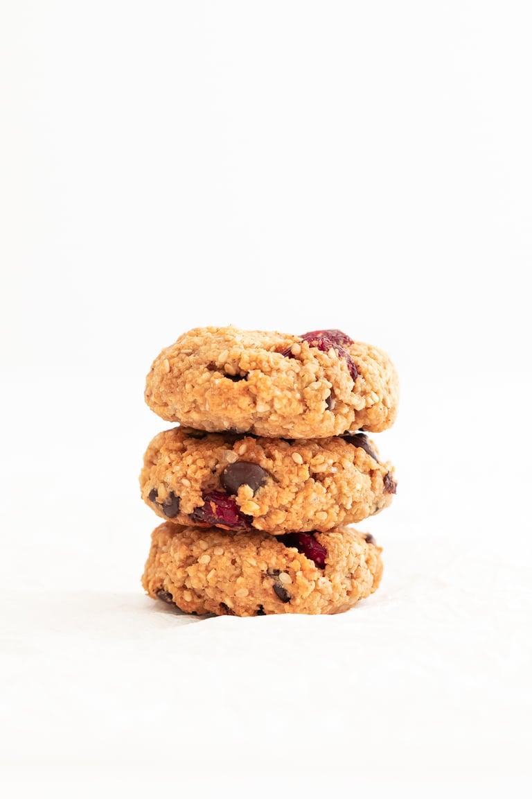 Galletas Veganas y Sin Gluten. - Estas galletas veganas y sin gluten son el snack o desayuno perfecto porque son deliciosas, saludables, fáciles de transportar y aportan mucha energía. #vegano #singluten #danzadefogones