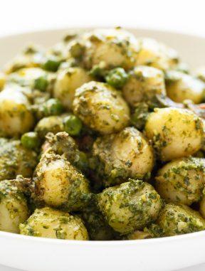 Ñoquis con Pesto de Kale Vegano