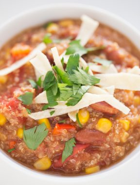 Chili de Quinoa Vegano en la Crockpot