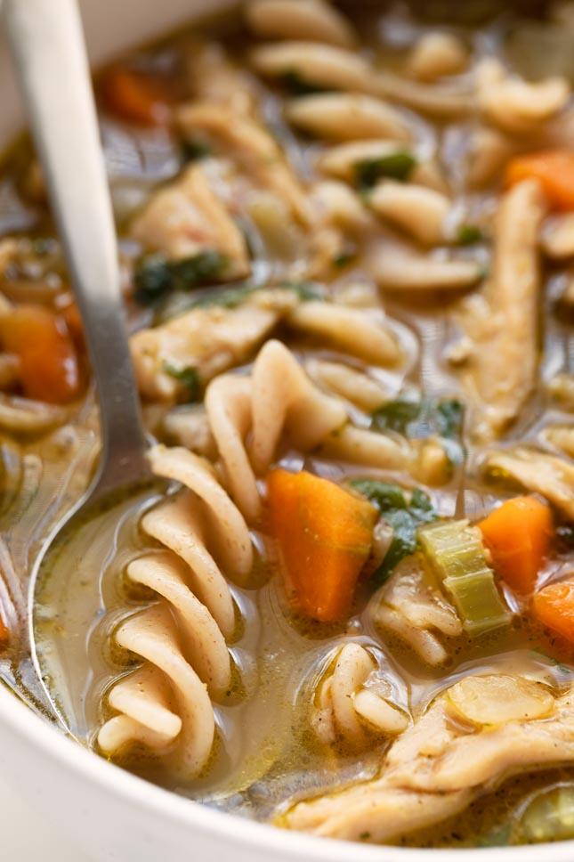Sopa de Pollo Vegana