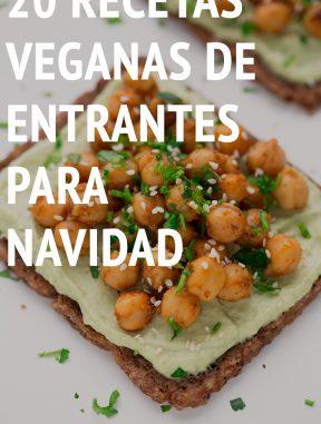 20 Recetas Veganas de Entrantes para Navidad #vegano #singluten #navidad #danzadefogones