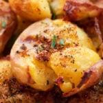 Patatas al Horno Aplastadas