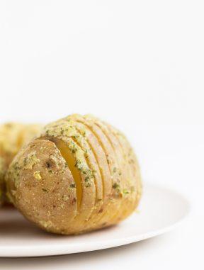 Patatas Hasselback Veganas Sin Aceite