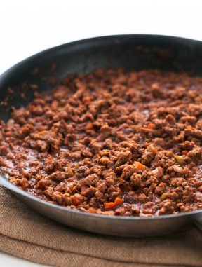 Salsa Boloñesa Vegana con Soja Texturizada