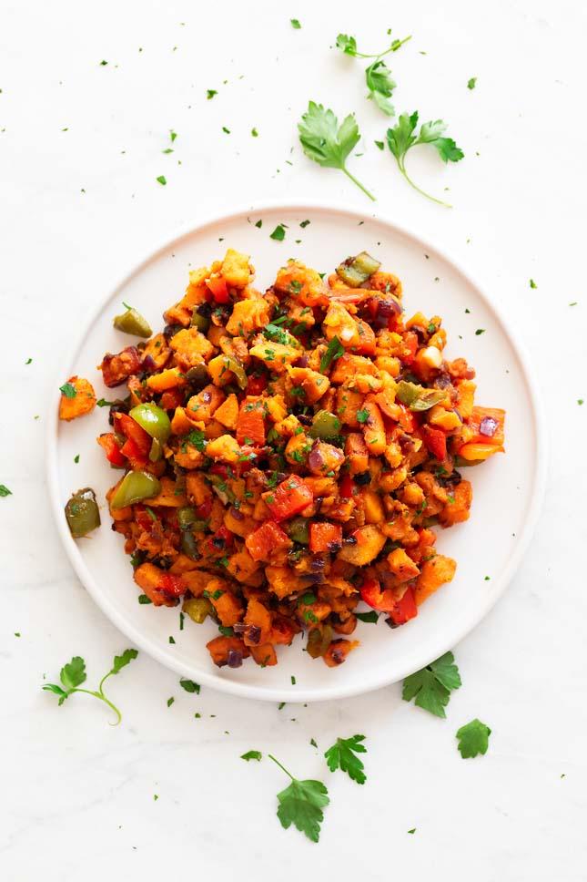 Batata Salteada con Verduras