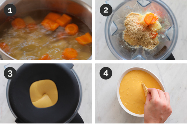 Fotos paso a paso de cómo hacer queso vegano
