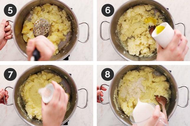 Fotos paso a paso de cómo preparar puré de patatas vegano casero