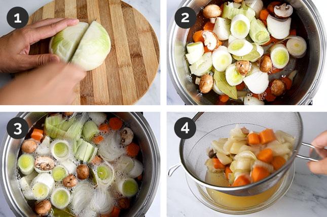 Fotos de cómo hacer caldo de verduras paso a paso