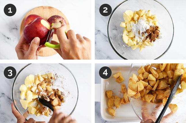 Fotos paso a paso de cómo hacer manzanas asadas