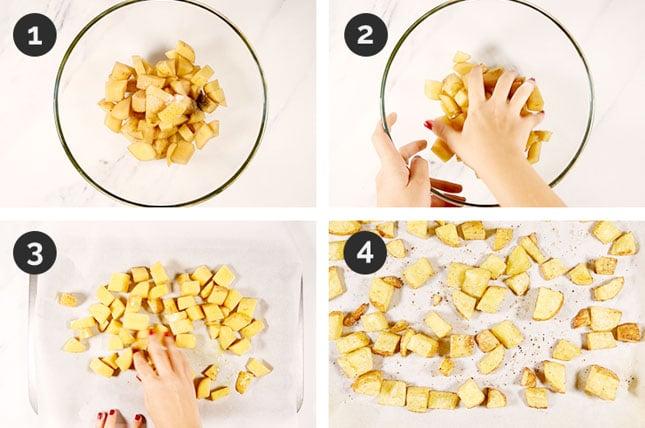 Fotos paso a paso de cómo hacer patatas asadas