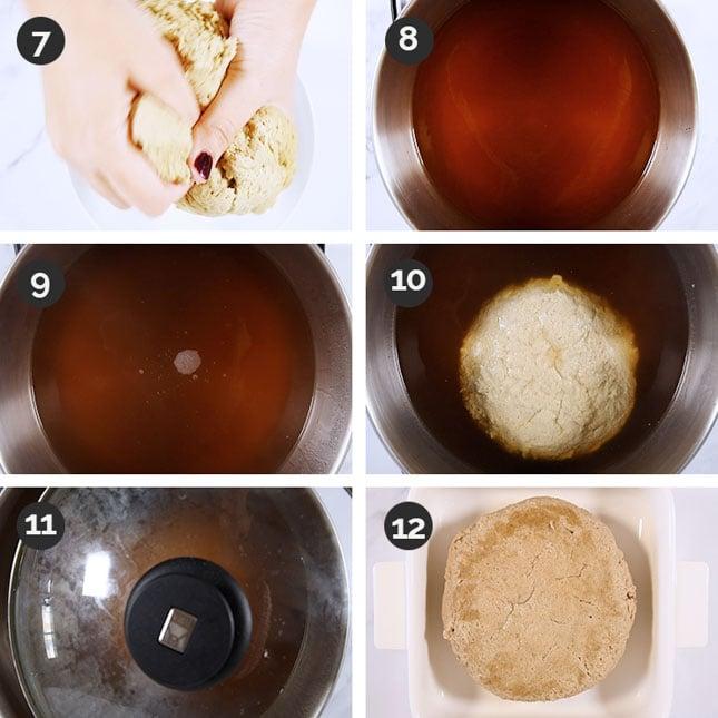 Fotos paso a paso de cómo preparar pavo vegano
