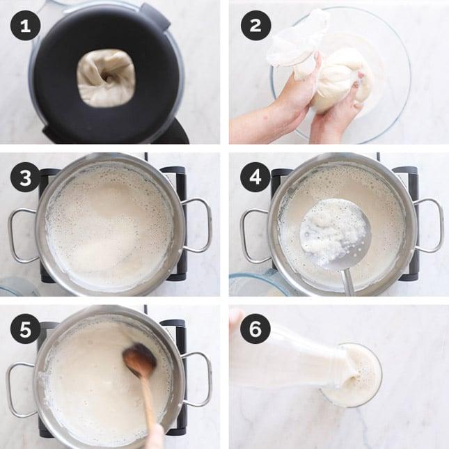 Fotos paso a paso de cómo hacer leche de soja en casa