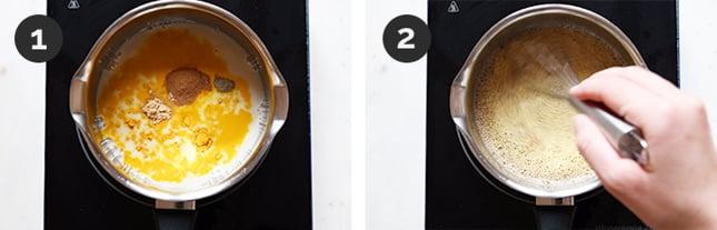 Fotos paso a paso de cómo hacer leche dorada