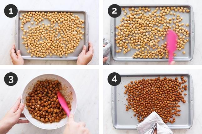 Fotos paso a paso de cómo hacer garbanzos al horno en casa