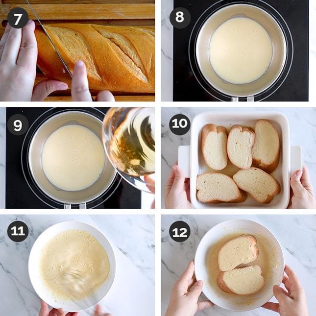 Fotos paso a paso de cómo hacer torrijas veganas