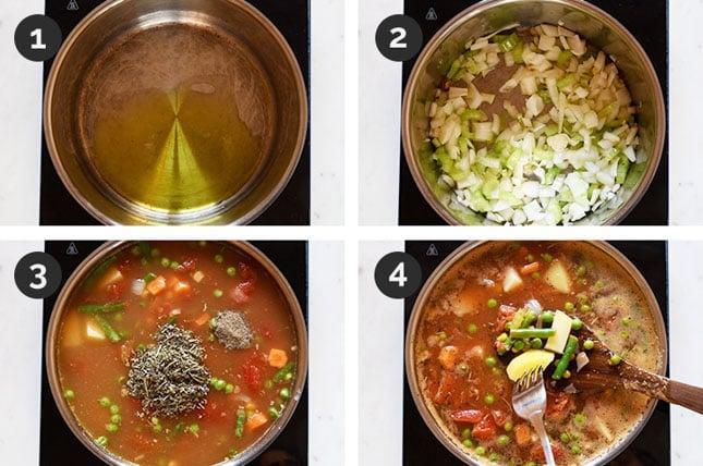 Fotos paso a paso de cómo hacer sopa de verduras