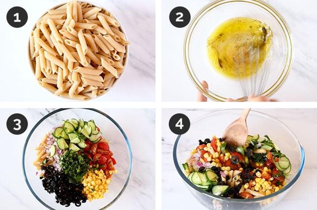 Fotos paso a paso de cómo hacer ensalada de pasta