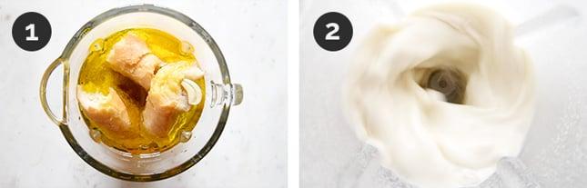 Fotos paso a paso de cómo hacer ajoblanco