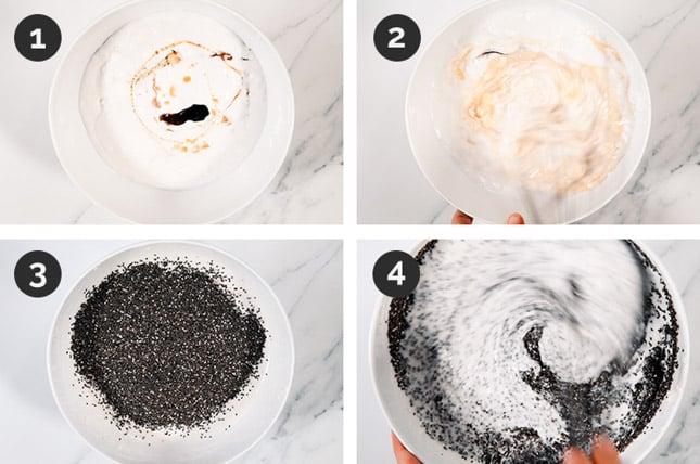 Fotos de cómo hacer chia pudding paso a paso