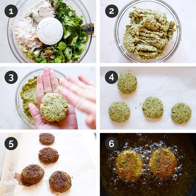 Fotos paso a paso de cómo hacer falafel