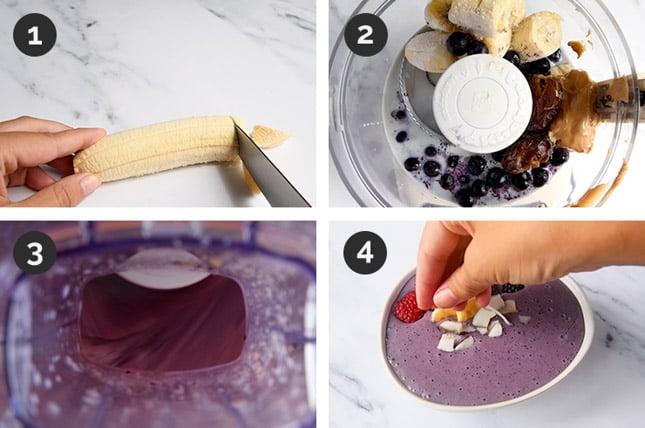Fotos de cómo hacer un smoothie bowl paso a paso